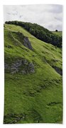 Cave Dale From Peveril Castle Beach Towel