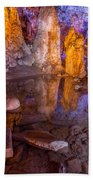 Cave Reflection Beach Towel
