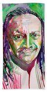 Cecil Taylor - Watercolor Portrait Beach Towel