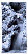 Cedar Falls In Winter Beach Towel