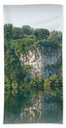 Cedar Hollow Quarry Panorama Beach Towel