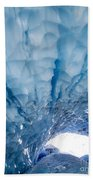 Jagged Ceiling Of Paradise Ice Cave Beach Towel
