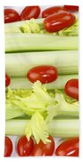 Celery And Tomatoes Beach Towel