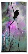 Celestial Dream Of Crow Beach Towel