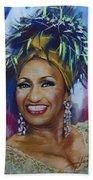 Celia Cruz Beach Towel