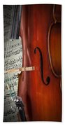 Cello Bridge And Beethoven Beach Towel