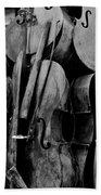 Cellos 6 Black And White Beach Towel