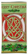Celtic Christimas O Initial Beach Towel