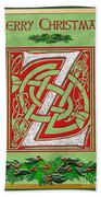 Celtic Christmas Initial Z Beach Towel