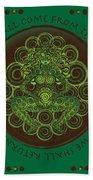 Celtic Pagan Fertility Goddess Beach Sheet