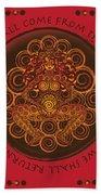 Celtic Pagan Fertility Goddess In Red Beach Towel
