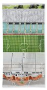 Celtic Park Stadia Art - Celtic Fc Beach Towel