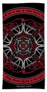Celtic Vampire Bat Mandala Beach Towel