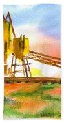 Cement Plant Across The Tracks Beach Towel by Kip DeVore