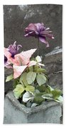 Cemetary Flowers 2 Beach Towel
