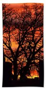 Cemetery Sunset Beach Towel