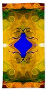 Centered In Peace Abstract Pattern Artwork By Omaste Witkowski Beach Towel