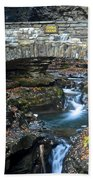 Central Cascade Beach Towel by Frozen in Time Fine Art Photography