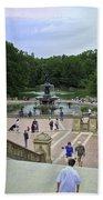 Central Park - Bethesda Fountain Beach Towel