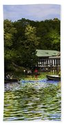 Central Park Boathouse Beach Towel