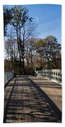 Central Park Bridge Shadows Beach Towel