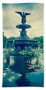 Central Park Fountain Beach Towel