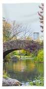 Central Park Gapstow Bridge Autumn II Beach Towel