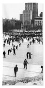Central Park Winter Carnival Beach Towel