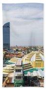 Central Phnom Penh In Cambodia Beach Towel