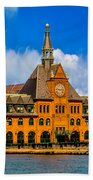 Central Railroad Of New Jersey Terminal Beach Towel