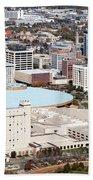 Century II Convention Hall And Downtown Wichita Beach Towel