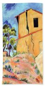 Cezanne's House With Cracked Walls Beach Towel