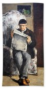 Cezanne's The Artist's Father Reading Le Evenement Beach Towel