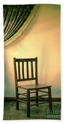 Chair And Curtain Beach Towel