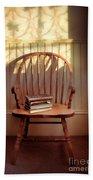 Chair And Lace Shadows Beach Sheet