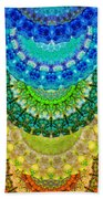 Chakra Mandala Healing Art By Sharon Cummings Beach Sheet