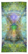 Chakra Tree Anatomy With Mercaba In Chalice Garden Beach Towel