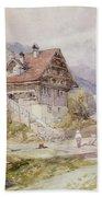 Chalet, Brunnen, Lake Lucerne Beach Towel