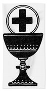 Chalice And Cross Beach Towel