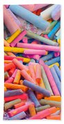 Chalk Colors Beach Towel