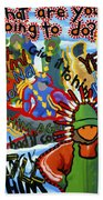 Challenge To Action Beach Towel