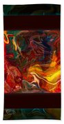 Challenges And Moments In Time Abstract Healing Art Beach Sheet