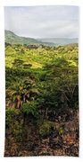 Chamarel Waterfall. Mauritius Beach Towel