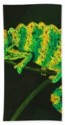 Chameleon Beach Towel