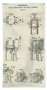 Champagne  Cork Extractor And Wire Cutter Patent Drawing Beach Towel