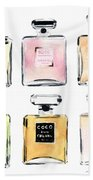 Chanel Perfumes Beach Towel