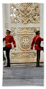 Change Of Guards Ceremony Dolmabahce Istanbul Turkey Beach Towel