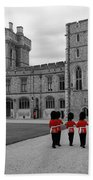Changing Of The Guard At Windsor Castle Beach Towel