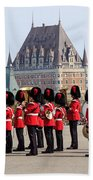 Changing Of The Guard The Citadel Quebec City Beach Towel
