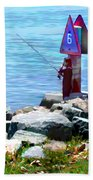 Channel Fishing Beach Towel